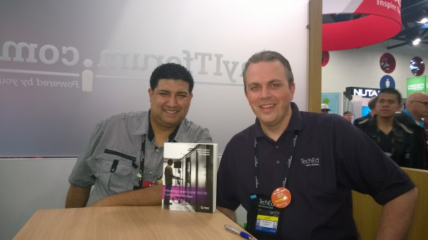 Santos and me in the Myitforum Lounge
