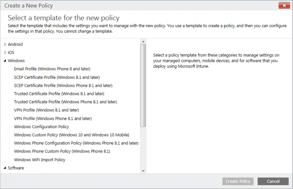 A lot more policies for the Windows Platforms :)