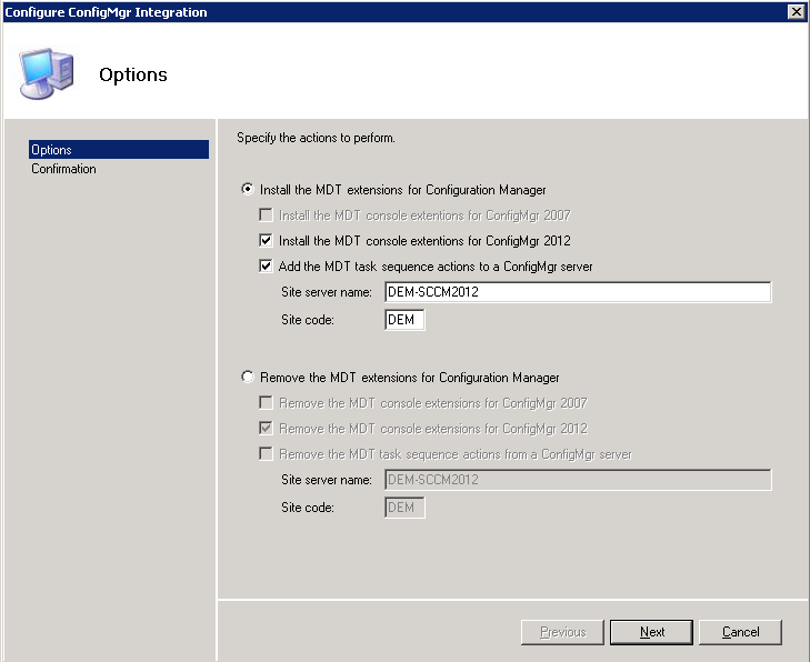 MDT support for Configuration Manager 2012 is there