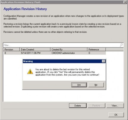 How to remove applications in Configuration Manager 2012