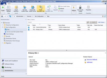 Deploying Secondary Sites in Configuration Manager 2012