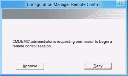Remote Control client settings in Configuration Manager 2012