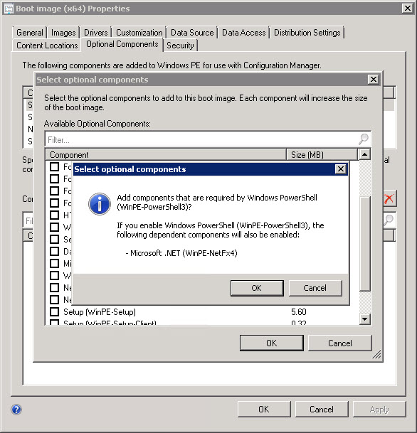 Adding PowerShell support to WinPE from ConfigMgr 2012 SP1