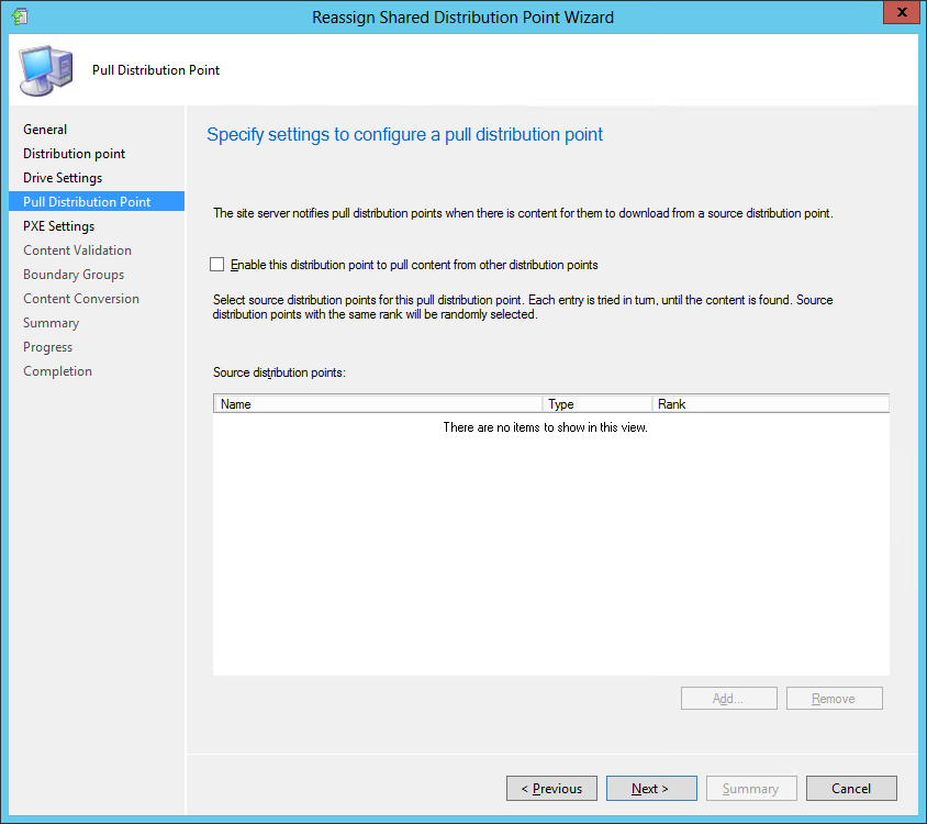Reassigning distribution points in ConfigMgr 2012 R2