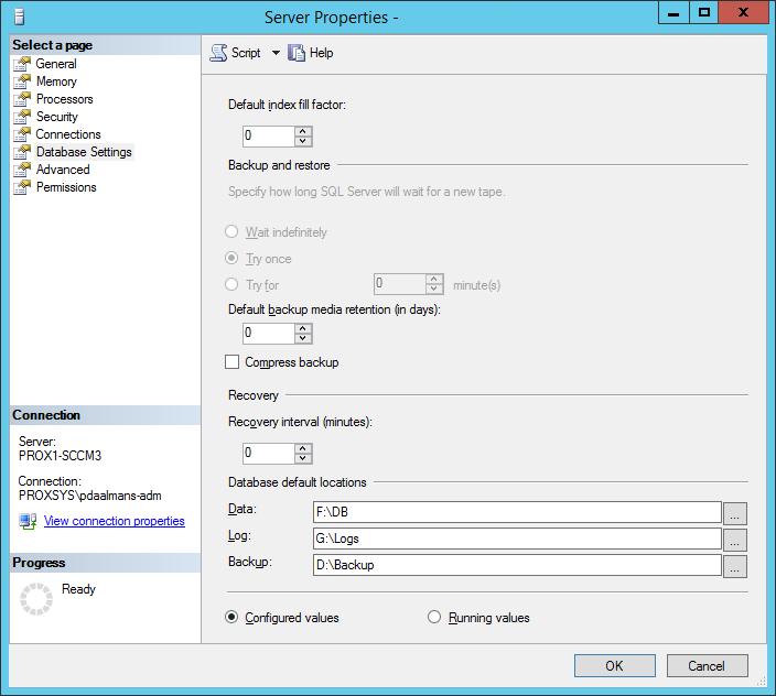 ConfigMgr installation failed because of backslash in default SQL