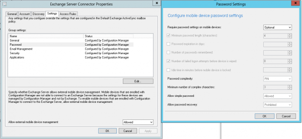 Configuring the Exchange ActiveSync Connector