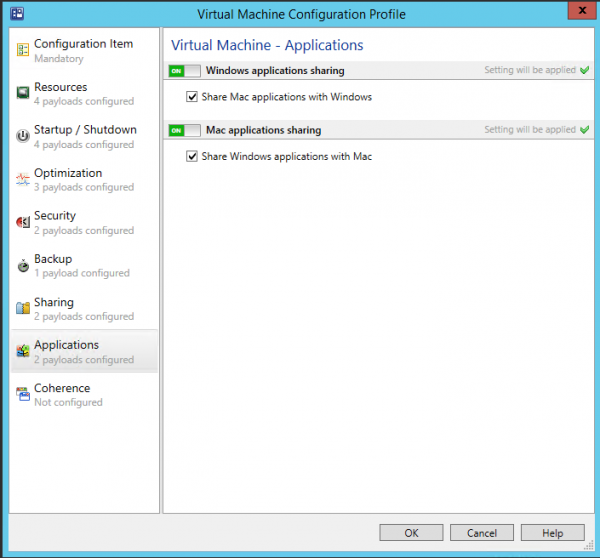 Configure Application Sharing