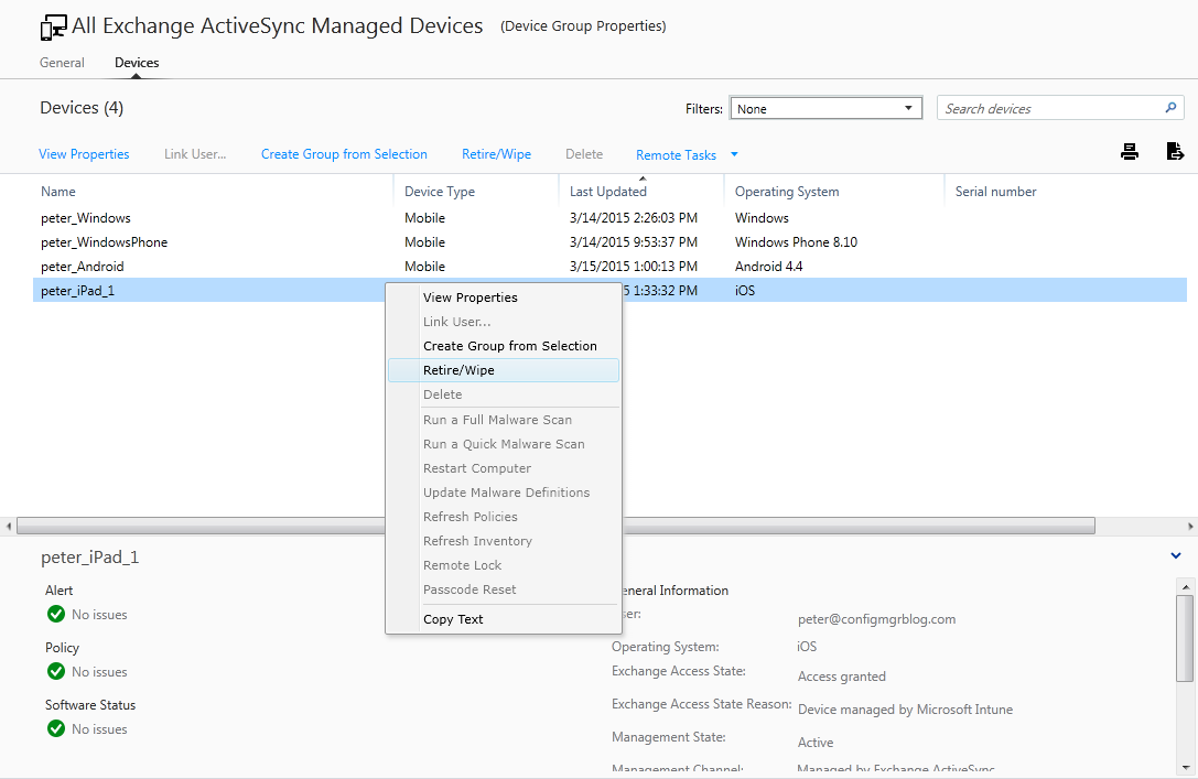 Objects appearing in Microsoft Intune in Hybrid scenario