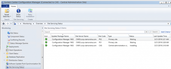 Installation of CAS is started
