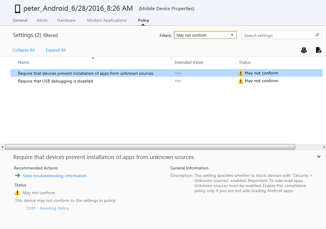 More Android Compliance rules arrived in Intune | Enterprise