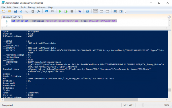 See the configuration via PowerShell