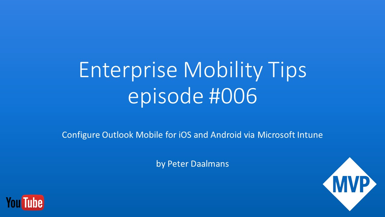 Enterprise Mobility and Enterprise Client Management Blog